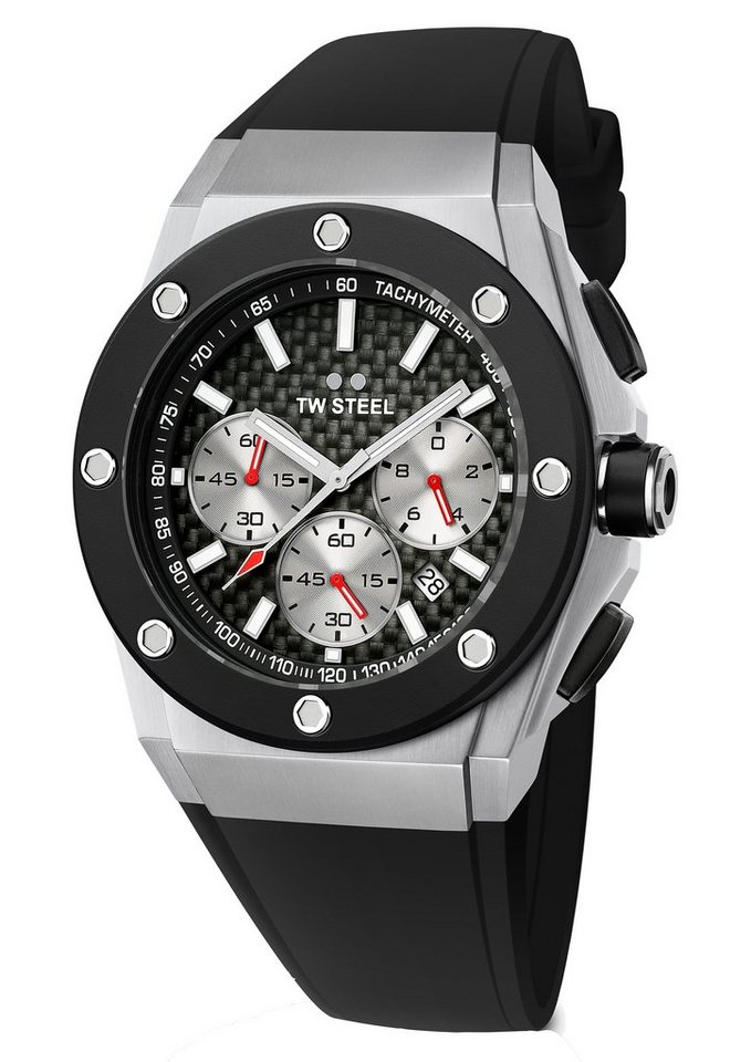 TW Steel Chronograph »CEO-TECH David Coulthard, TWCE-4020« in schwarz