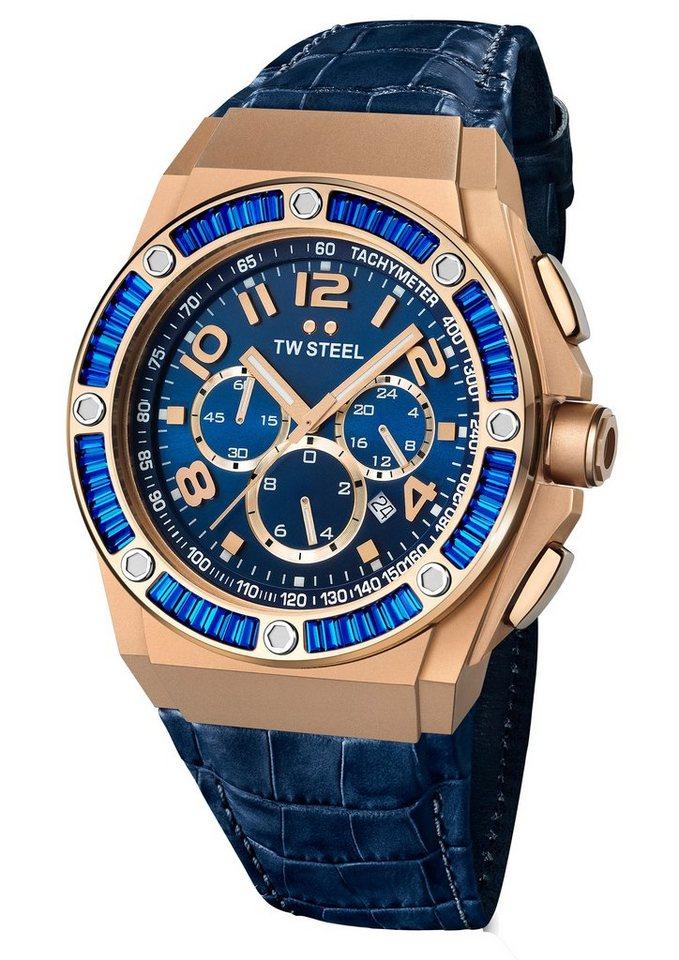 TW Steel Chronograph »CEO-TECH Kelly Rowland, TWCE-4007« in blau