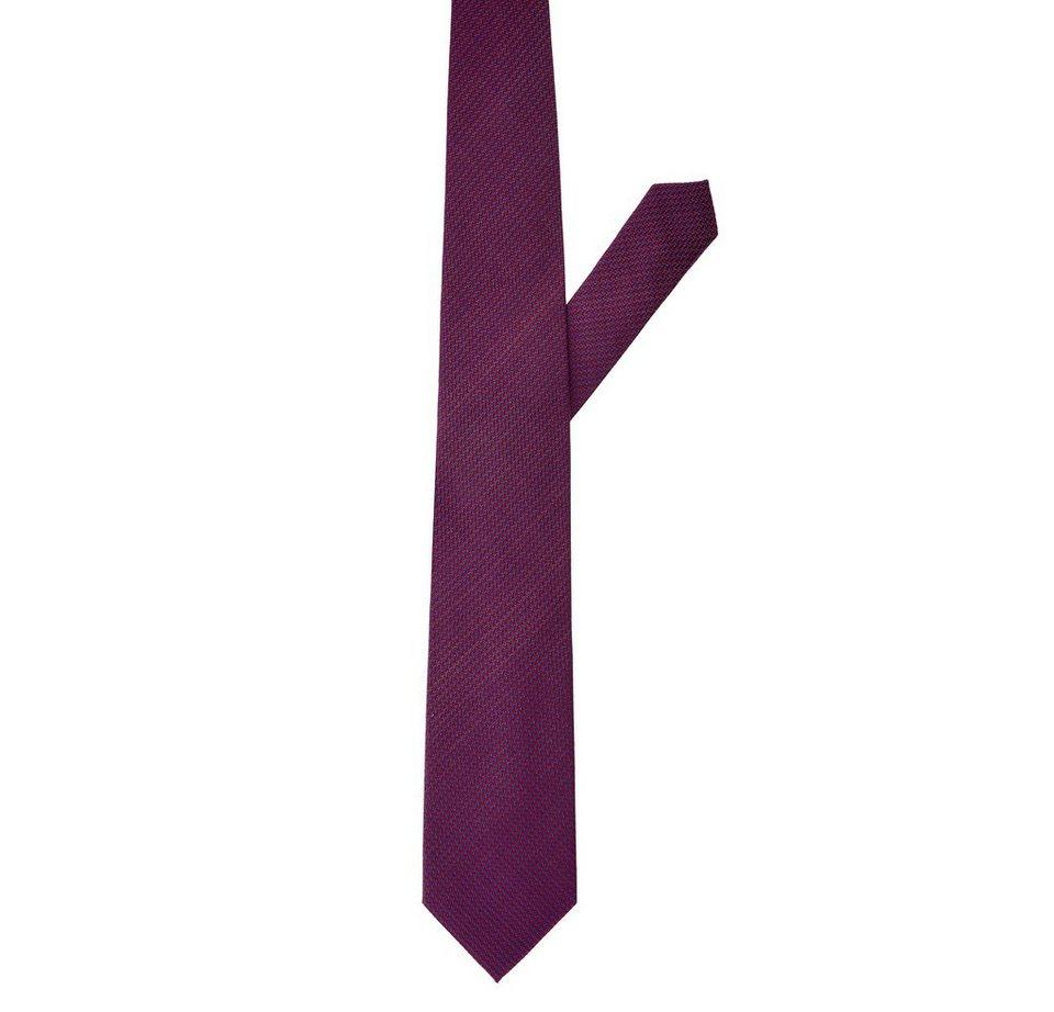 ETERNA Krawatte »eterna« in rot gemustert