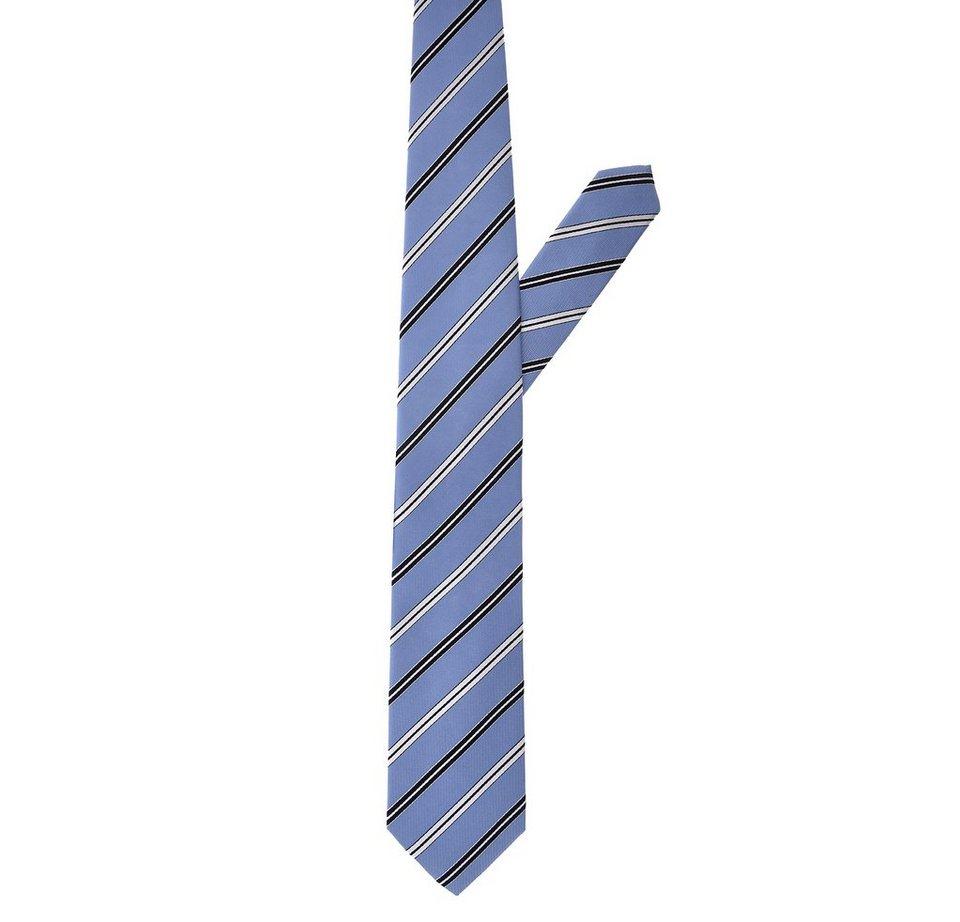 ETERNA Krawatte »eterna« in hellblau gestreift