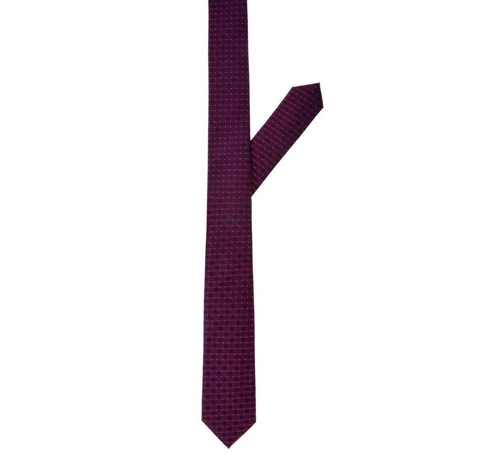 ETERNA Krawatte »eterna« in rot strukturiert