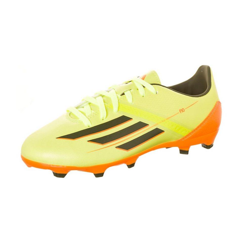 adidas Performance F10 TRX FG Fußballschuh Kinder in lime / orange