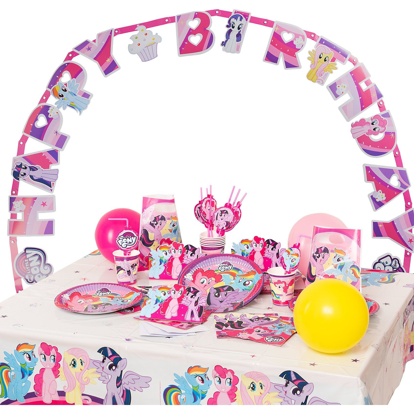 Amscan Partyset My Little Pony, 72-tlg.