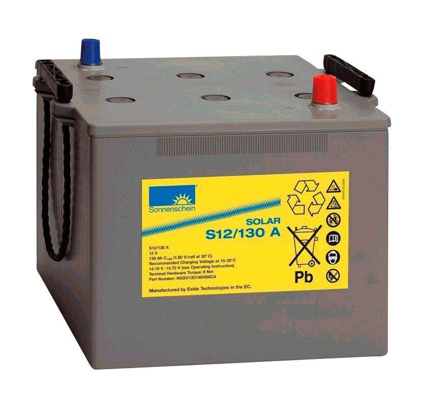 Solar-Gel-Batterie, 130 Ah in grau