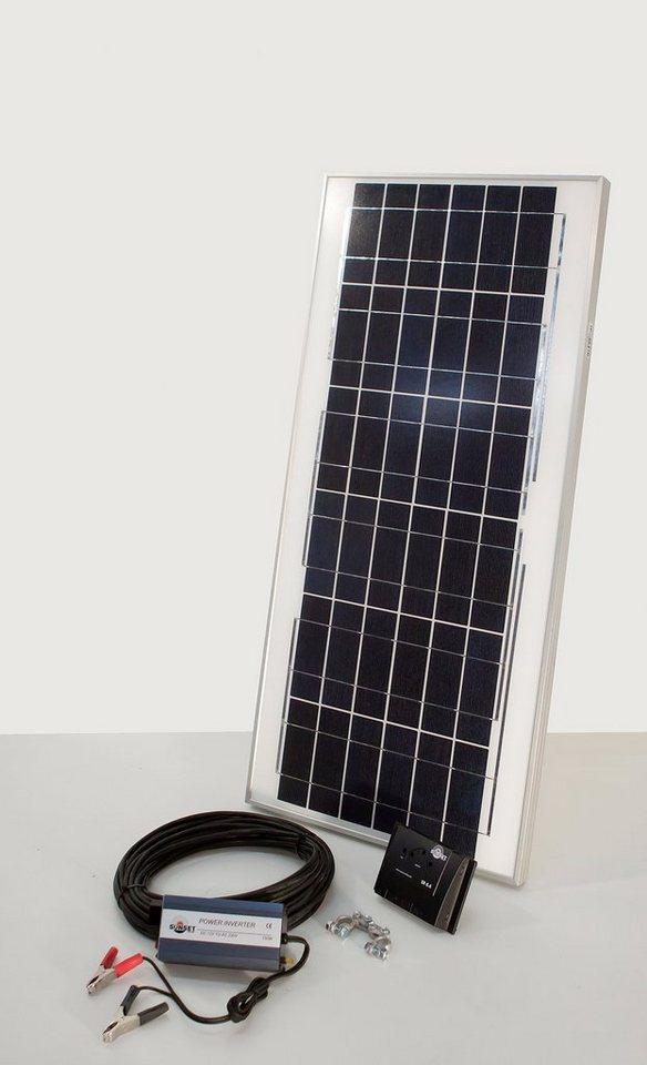 Set: Solaranlagen »Solarstrom-Einsteiger«, 45 Watt 12 V in schwarz