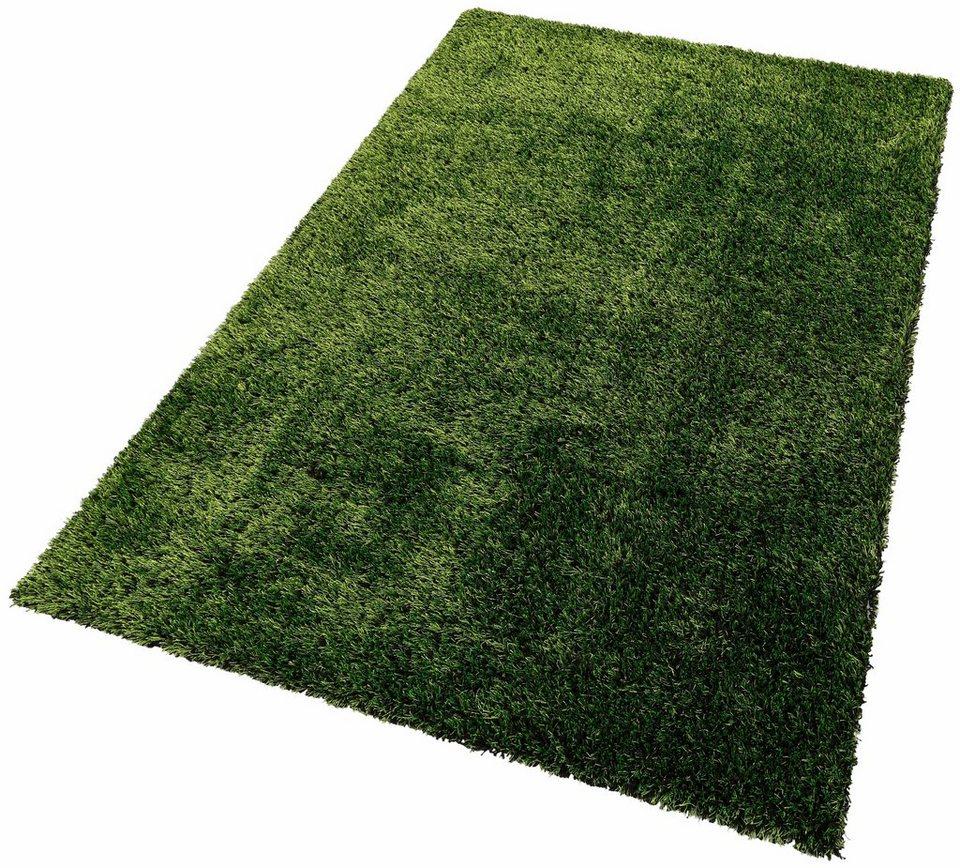Hochflor-Teppich, Lalee, »Style 700«, Höhe 35 mm, handgearbeitet in Grün