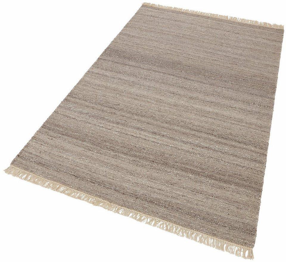 Teppich, Esprit, »Blurred«, Melange-Effekt, handgewebt in sand