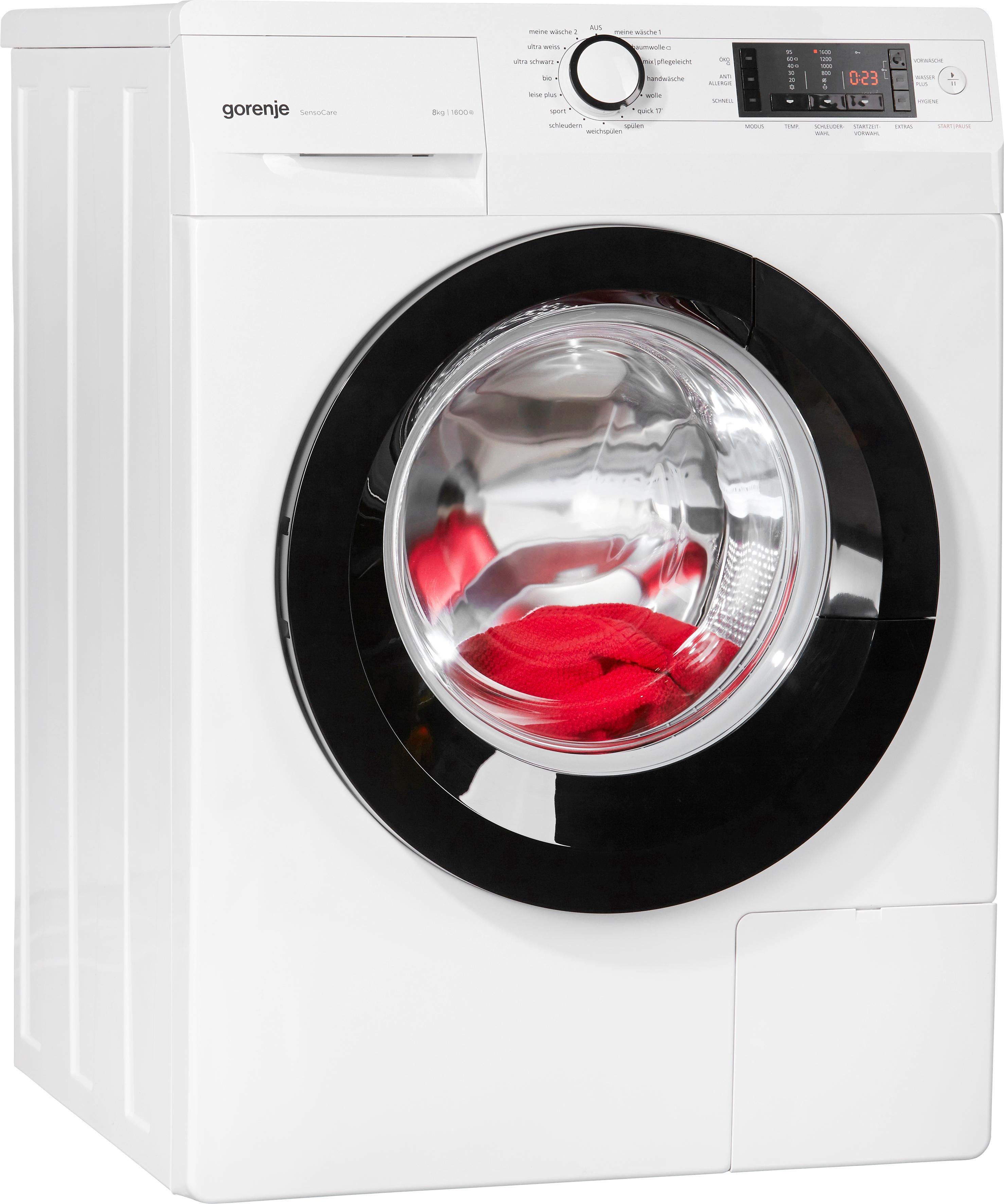 GORENJE Waschmaschine W8.6ECO, A+++, 8 kg, 1600 U/Min