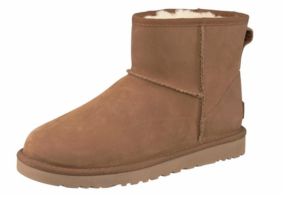 UGG »Classic Mini Leather« Stiefel in chestnut