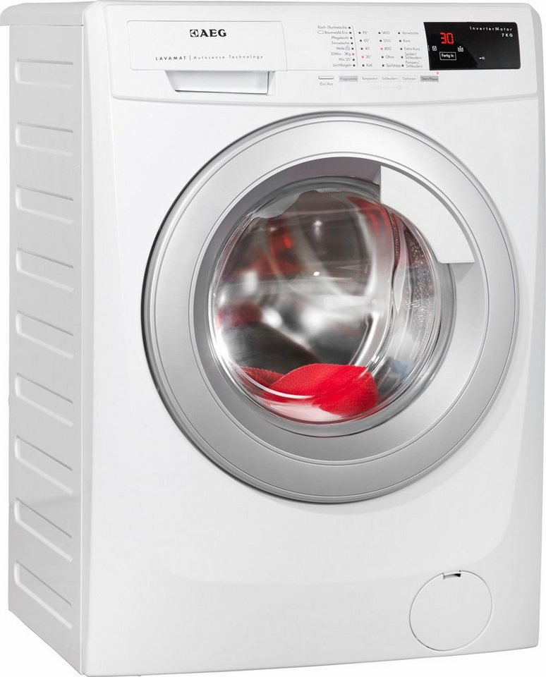 AEG Waschmaschine LAVAMAT 69470VFL, A+++, 7 kg, 1400 U/Min in weiß