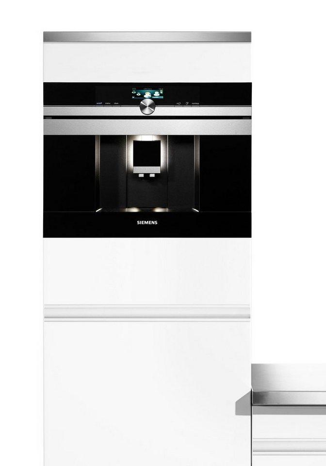 Siemens Kaffeevollautomat CT636LES1 mit Milchbehälter, edelstahl in edelstahl
