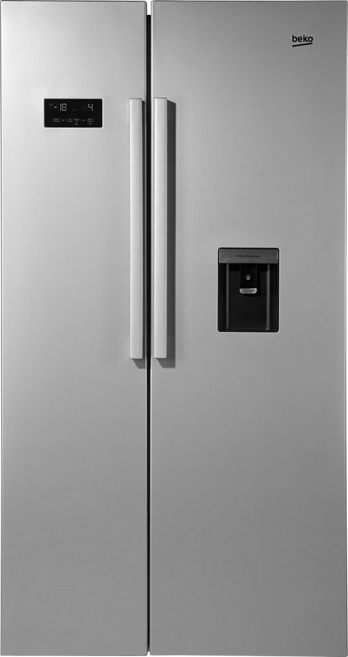 Beko Side by Side GN 163221 S, A+, 182 cm hoch, NoFrost in silberfarben