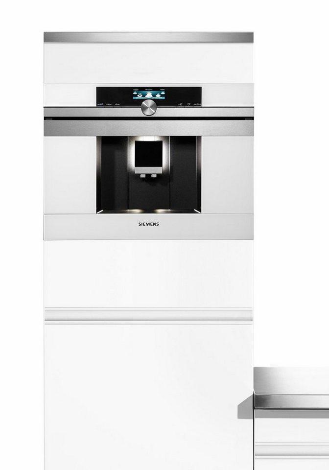 Siemens Einbau-Kaffeevollautomat iQ700 CT636LES1 in weiß