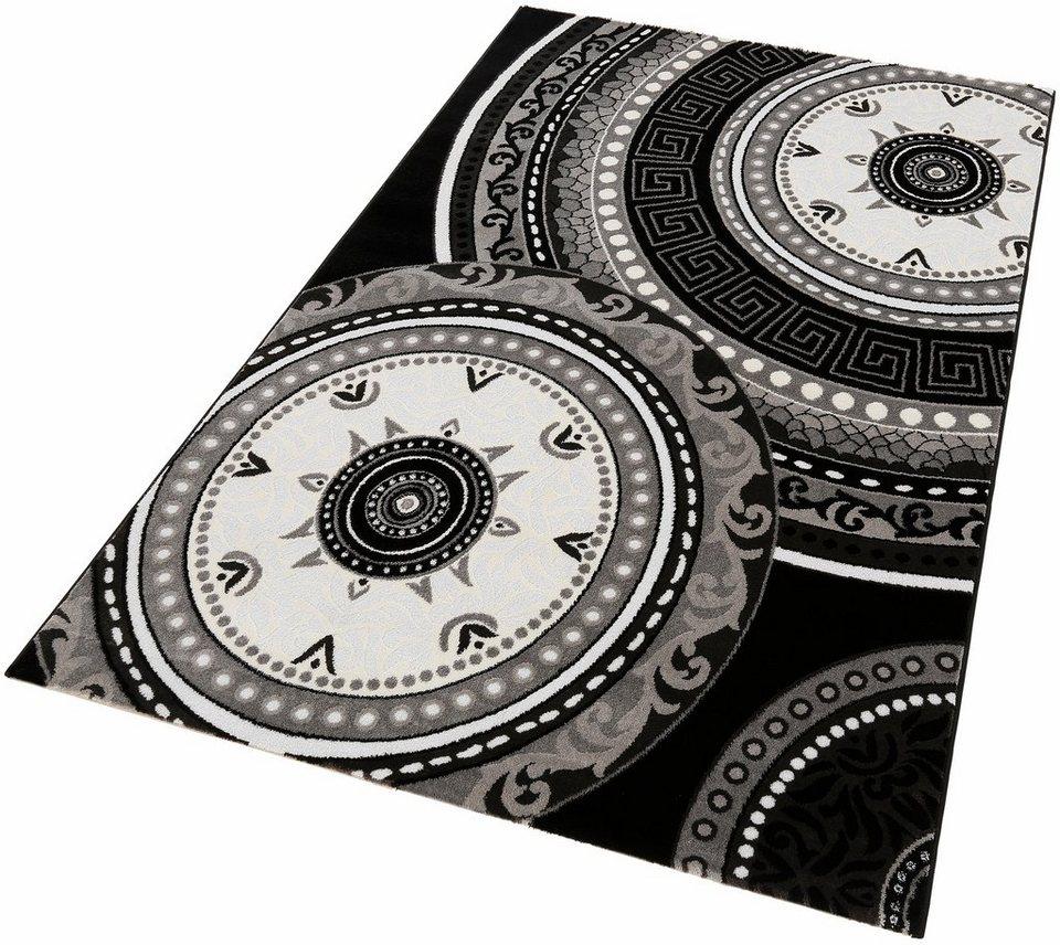 Teppich, Lalee, »Princess 181«, Hoch-Tief-Effekt, gewebt in Schwarz