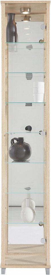 vitrine 1 t rig mit spiegelr ckwand 7 glasb den otto. Black Bedroom Furniture Sets. Home Design Ideas