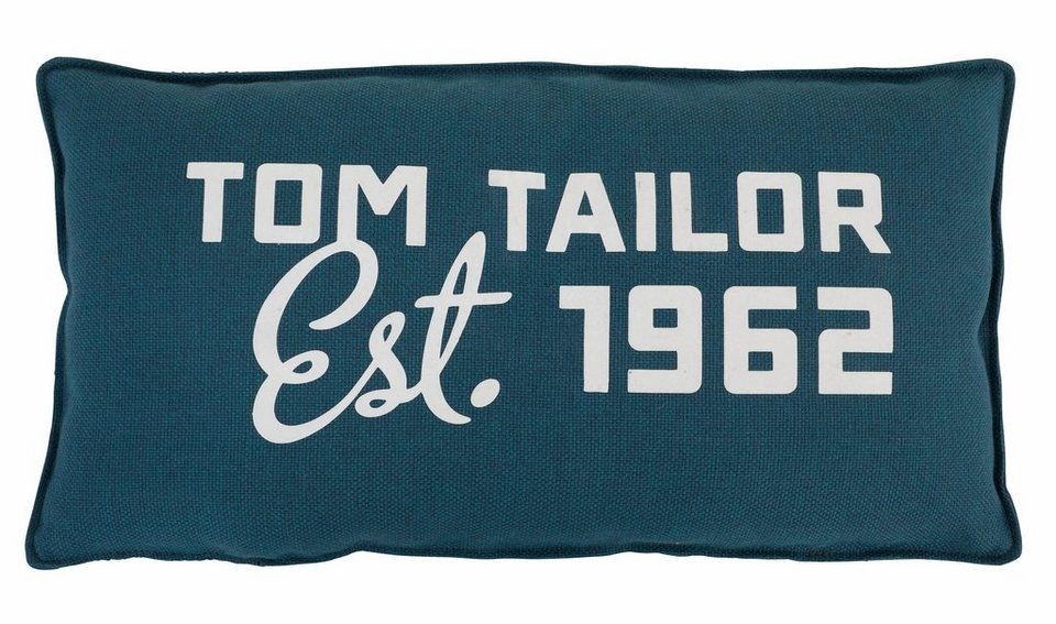 TOM TAILOR Nierenkissen »LAZY« in petrol green TBO 3
