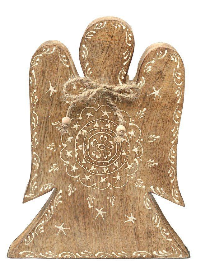 Deko-Engel in antikbraun