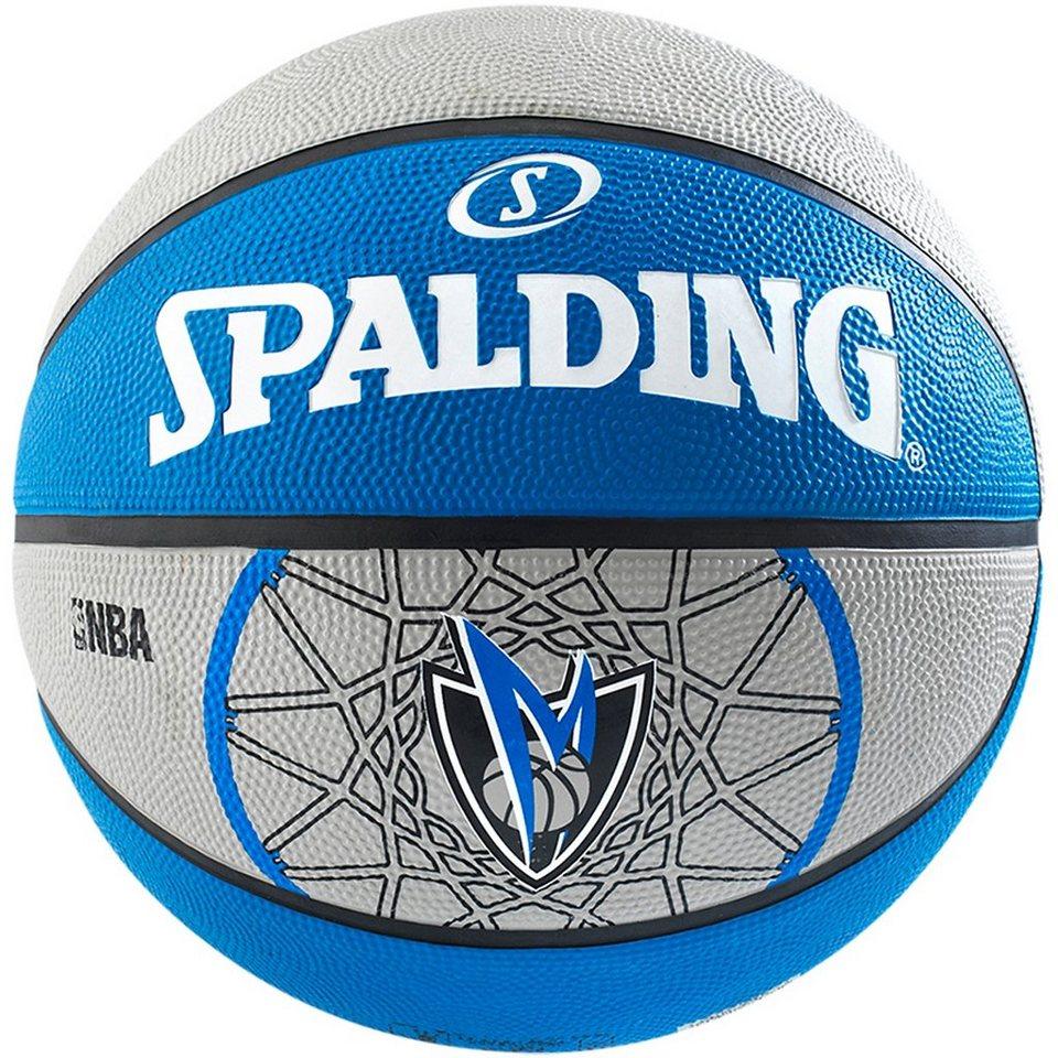 SPALDING Team Mavericks Basketball in blau / grau
