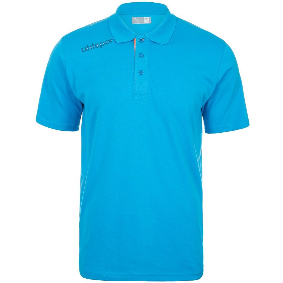 UHLSPORT Essential Polo Shirt Kinder in cyan