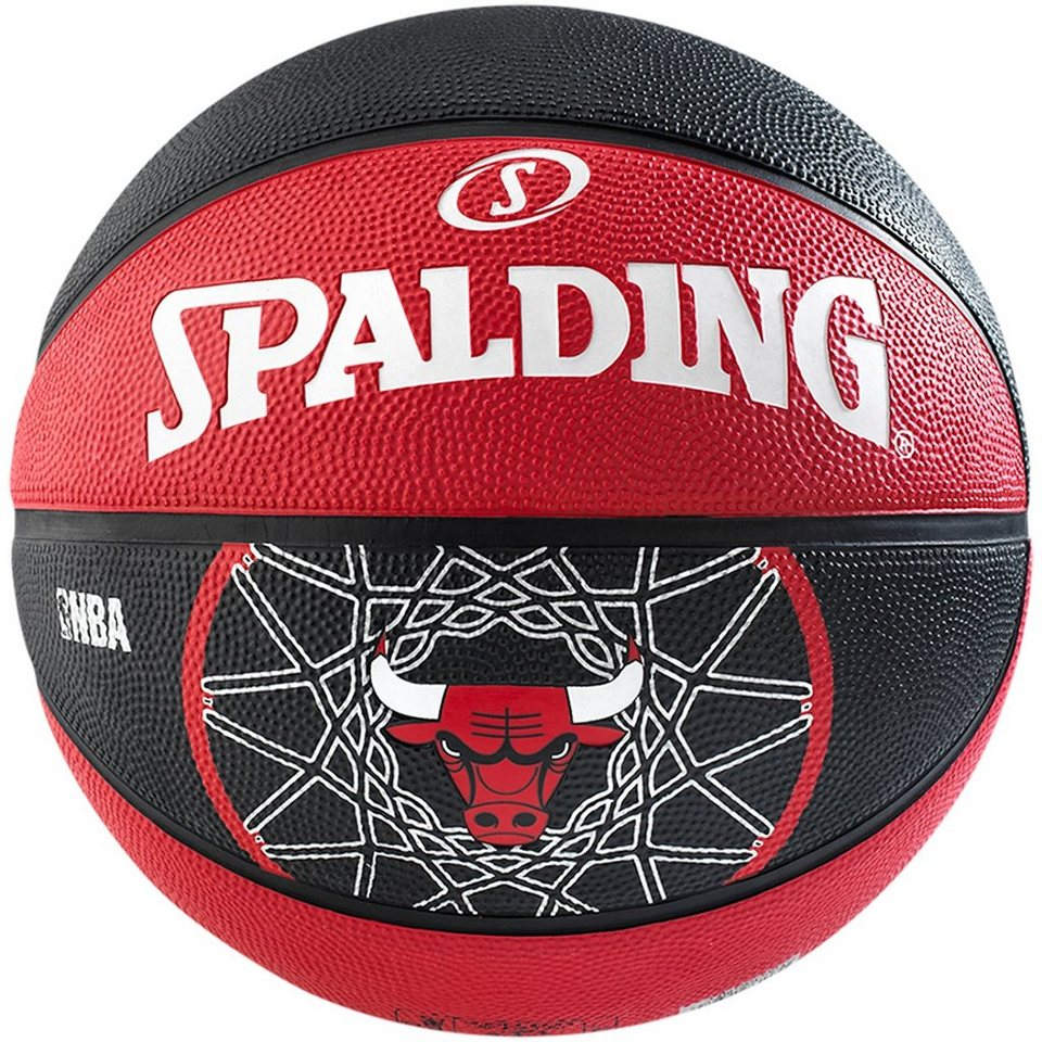 SPALDING Team Chicago Bulls Basketball in rot / schwarz