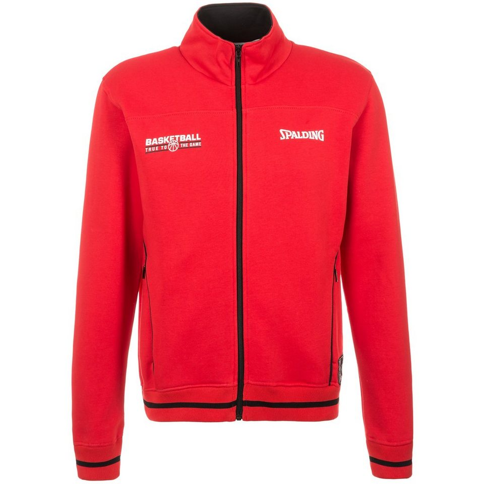 SPALDING Team Zipper Trainingsjacke Herren in rot/schwarz