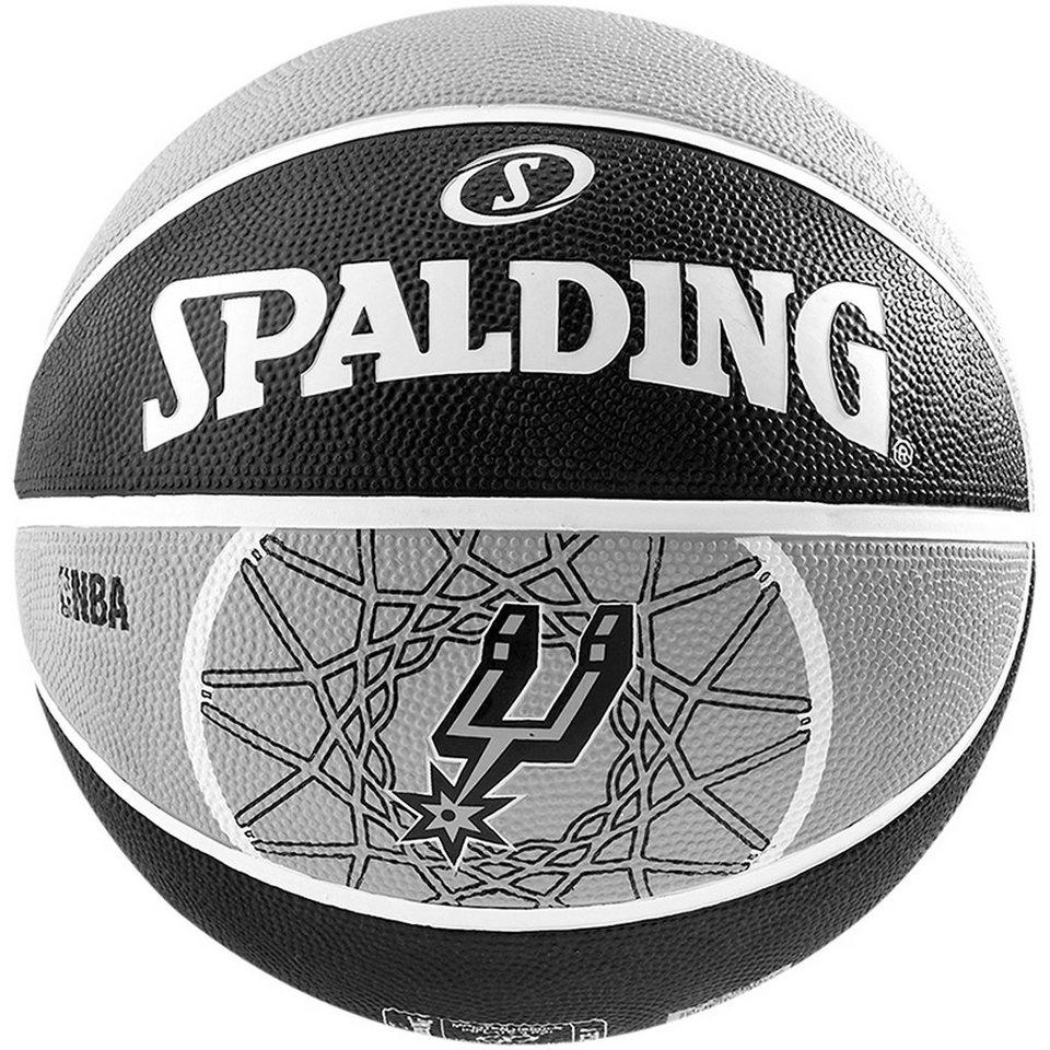 SPALDING Team San Antonio Spurs Basketball in grau / schwarz