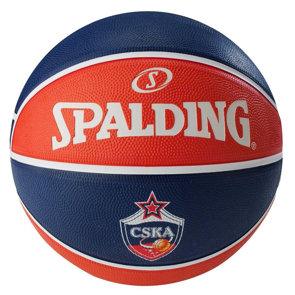 SPALDING EL Team ZSKA Moskau Basketball in dunkelblau / orange
