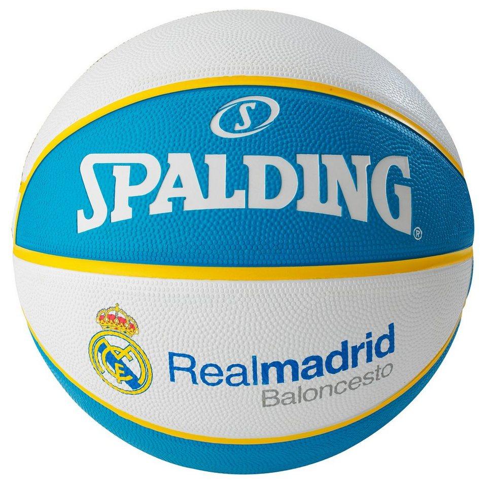 SPALDING EL Team Real Madrid Basketball in hellblau / weiß