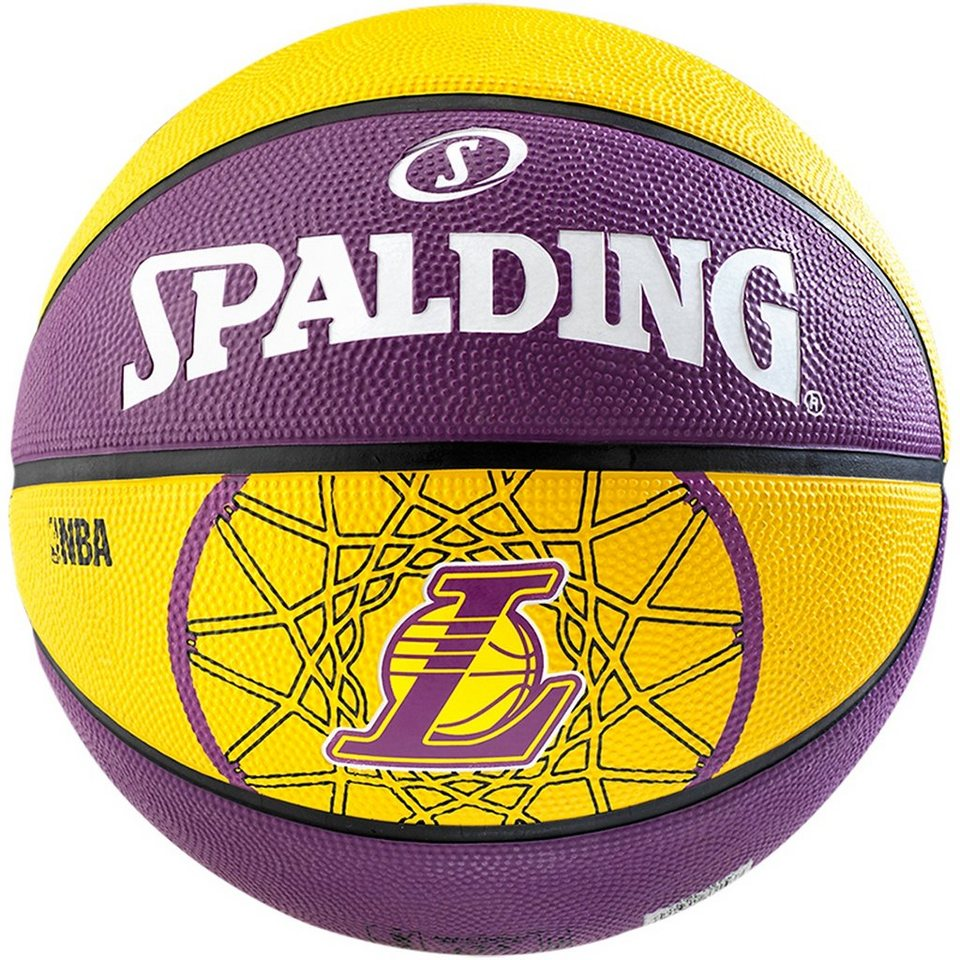 SPALDING Team Ball Los Angeles Lakers Basketball in gelb / lila