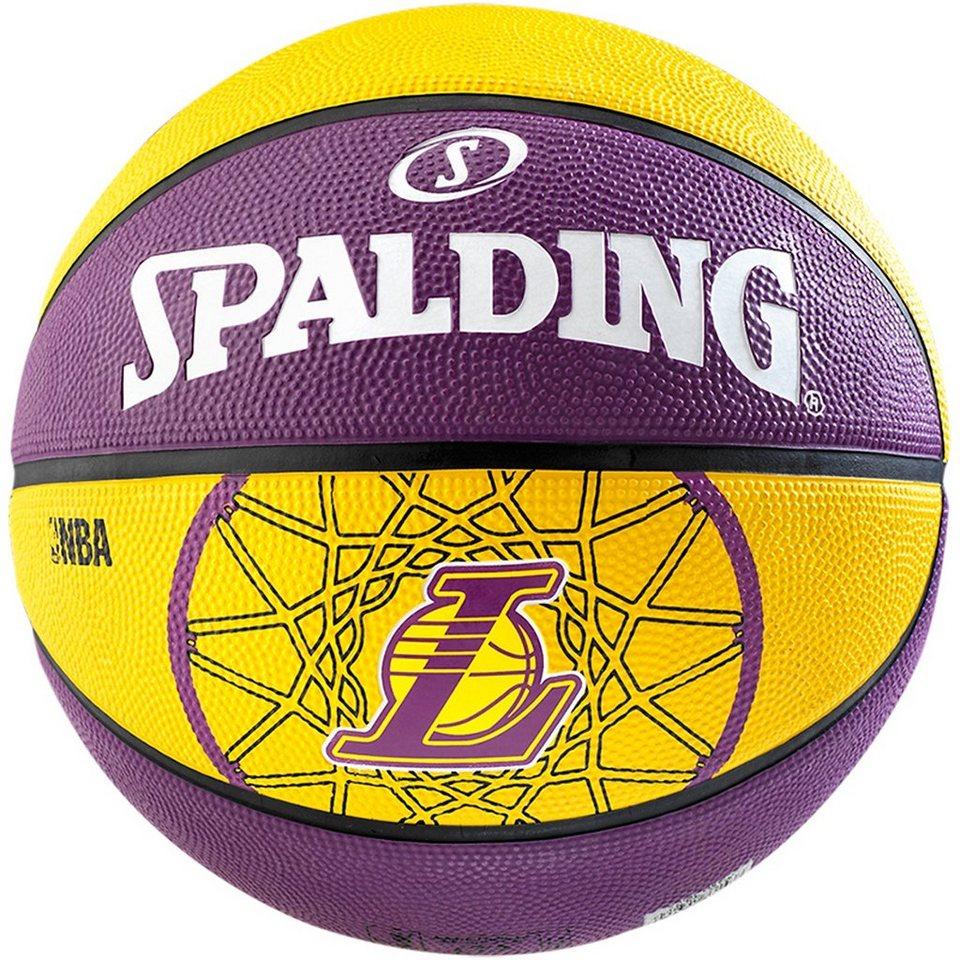 SPALDING Team Los Angeles Lakers Basketball in gelb / lila