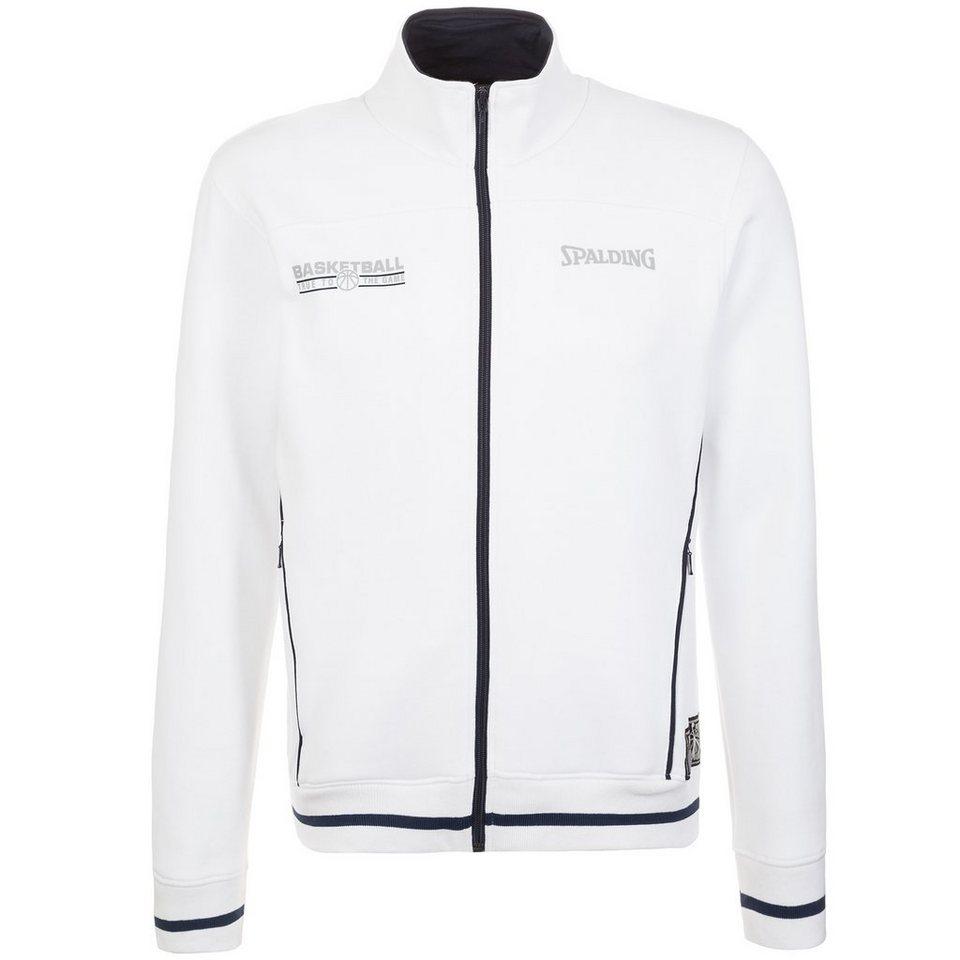SPALDING Team Zipper Trainingsjacke Herren in weiß/marine