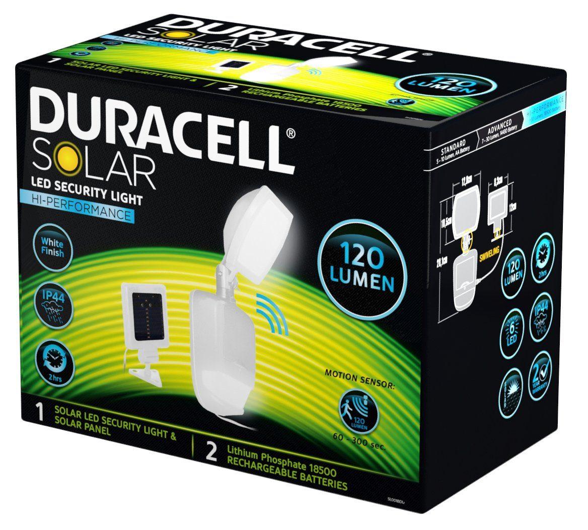 Duracell LED Solar Sicherheitslicht mit Bewegungsmelder 120 Lumen »SL001BDU 120 Lumen«