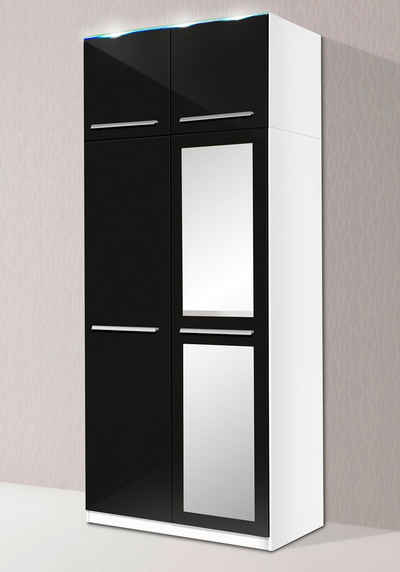 kleiderschrank modern schwarz. Black Bedroom Furniture Sets. Home Design Ideas