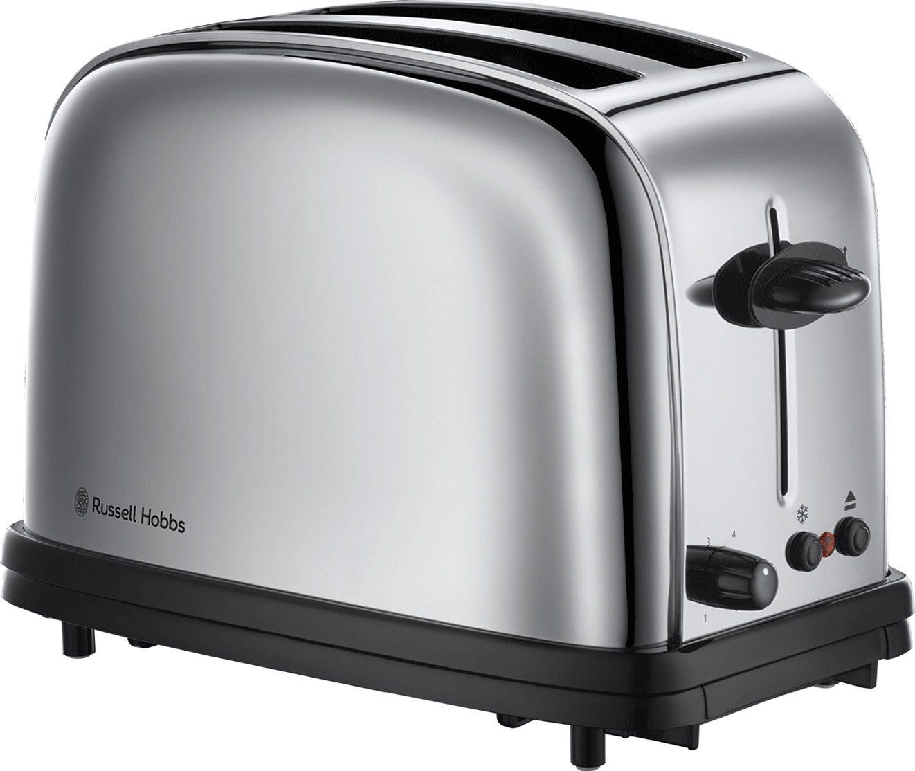 Russell Hobbs Toaster 20700-56 Oxford, 1200 Watt, schwarz/silber