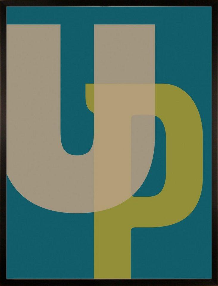 Home affaire gerahmter Kunstdruck »UP«, 33/43 cm in bunt