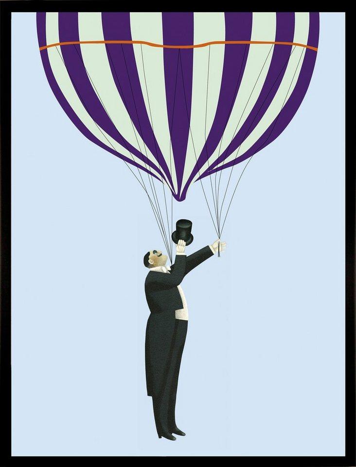 G&C gerahmter Kunstdruck »Take me for a Ride«, Luftballon, 33/43 cm in bunt