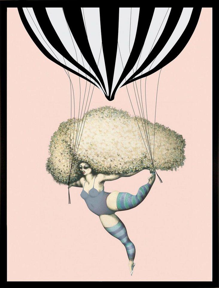 G&C gerahmter Kunstdruck »Dancing with Balloon« Luftballon, 33/43 c in bunt