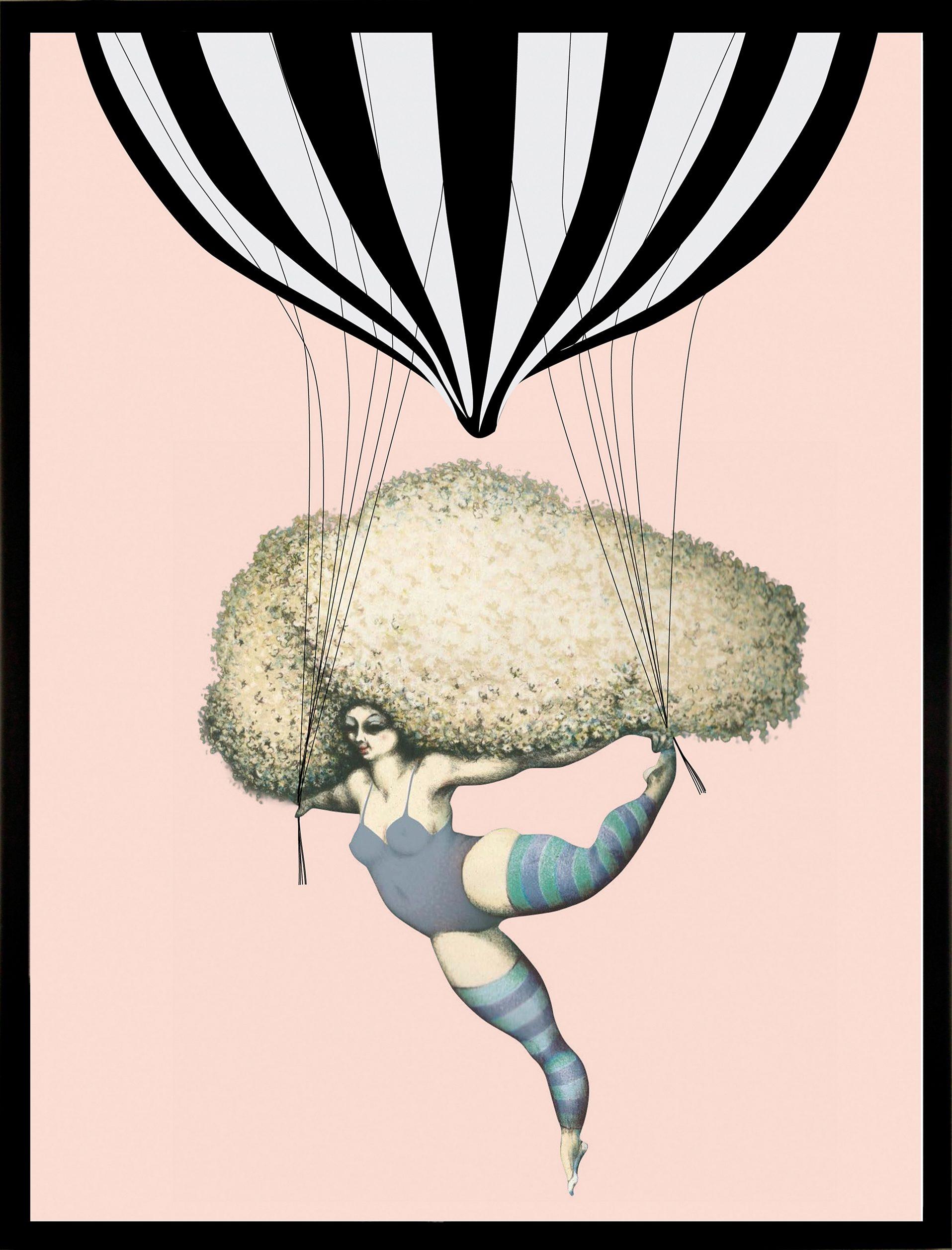 G&C gerahmter Kunstdruck »Dancing with Balloon« Luftballon, 33/43 c