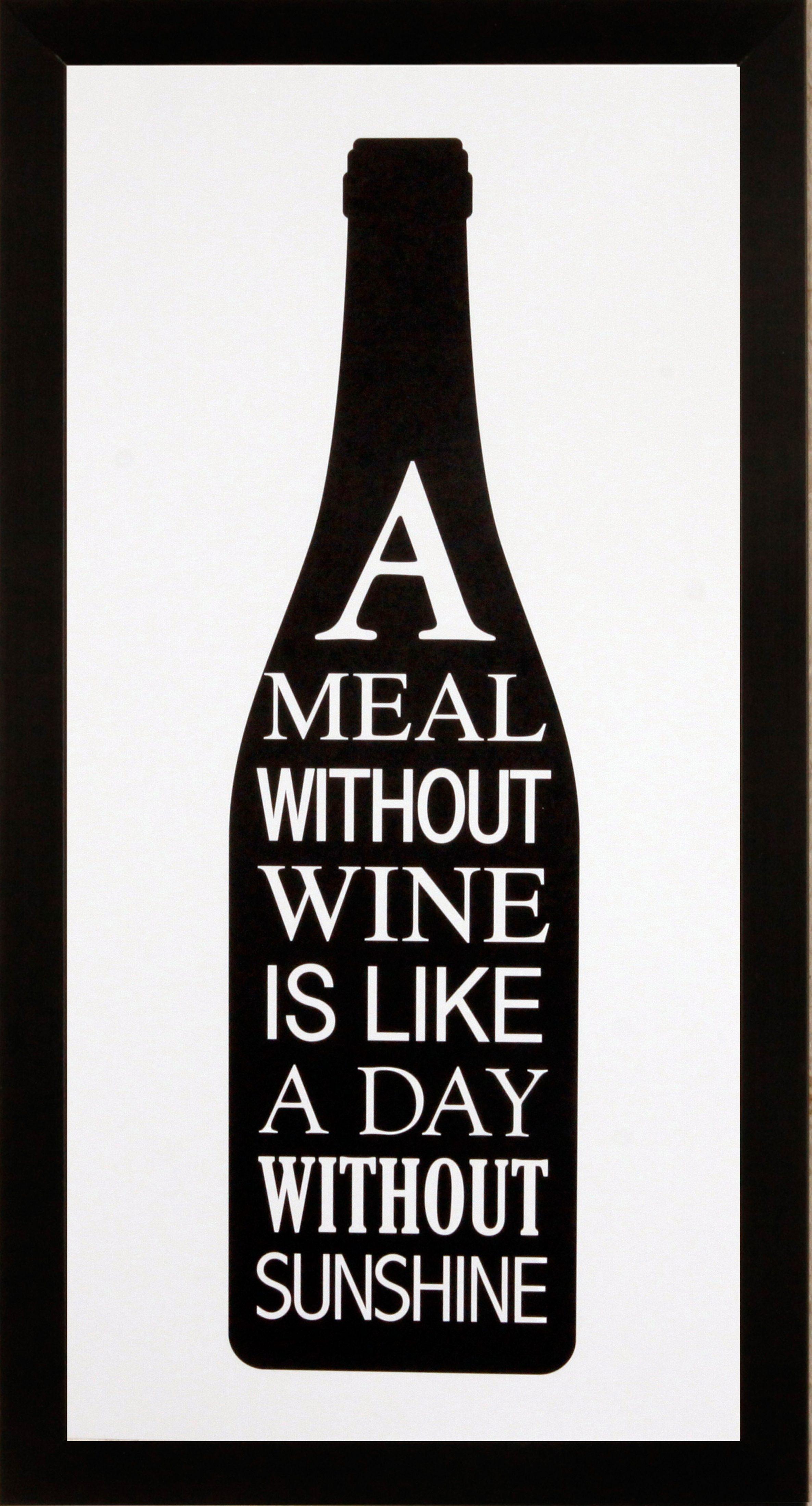 Home affaire gerahmter Kunstdruck »Meal with wine«, 23/43 cm