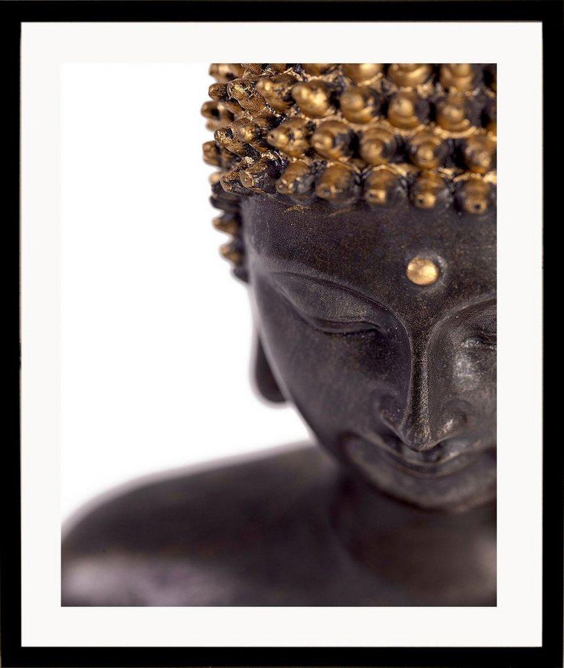 G&C gerahmter Kunstdruck »Buddha« front, 43/53 cm in naturfarben