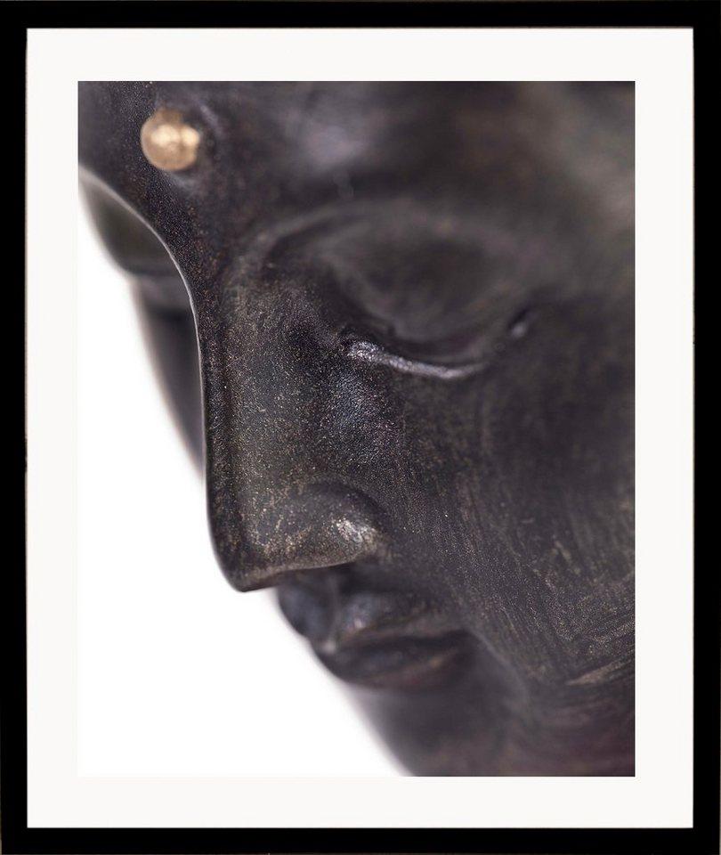 G&C gerahmter Kunstdruck »Buddha« close, 43/53 cm in naturfarben