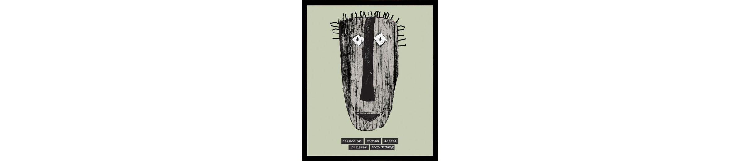 Home affaire gerahmter Kunstdruck »Maske mit französischen Reflexionen«, 33/43 cm