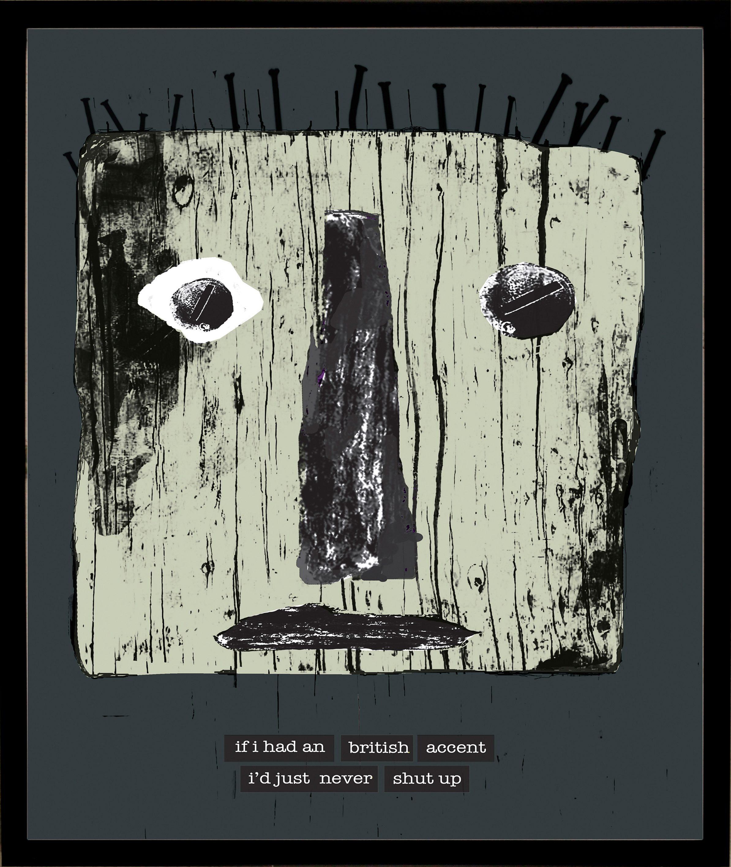 Home affaire gerahmter Kunstdruck »Maske mit britischen Reflexionen«, 33/43 cm