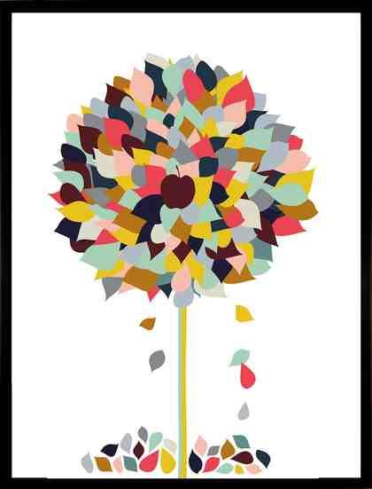 G&C gerahmter Kunstdruck »Appletree«, 33/43 cm