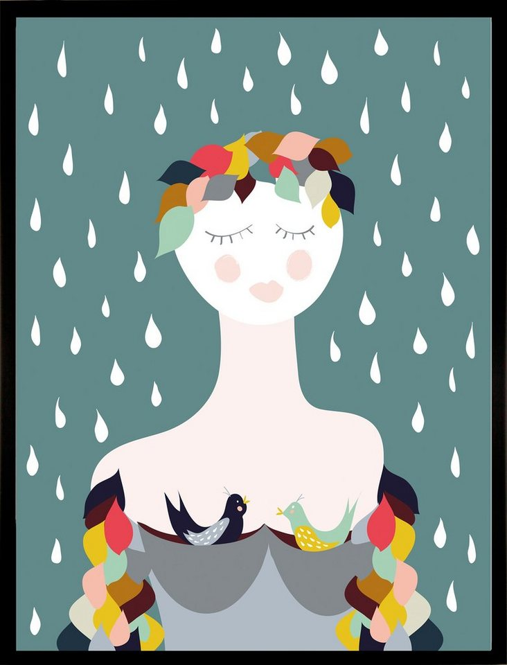 G&C gerahmter Kunstdruck »Rainy Lady«, 33/43 cm in bunt