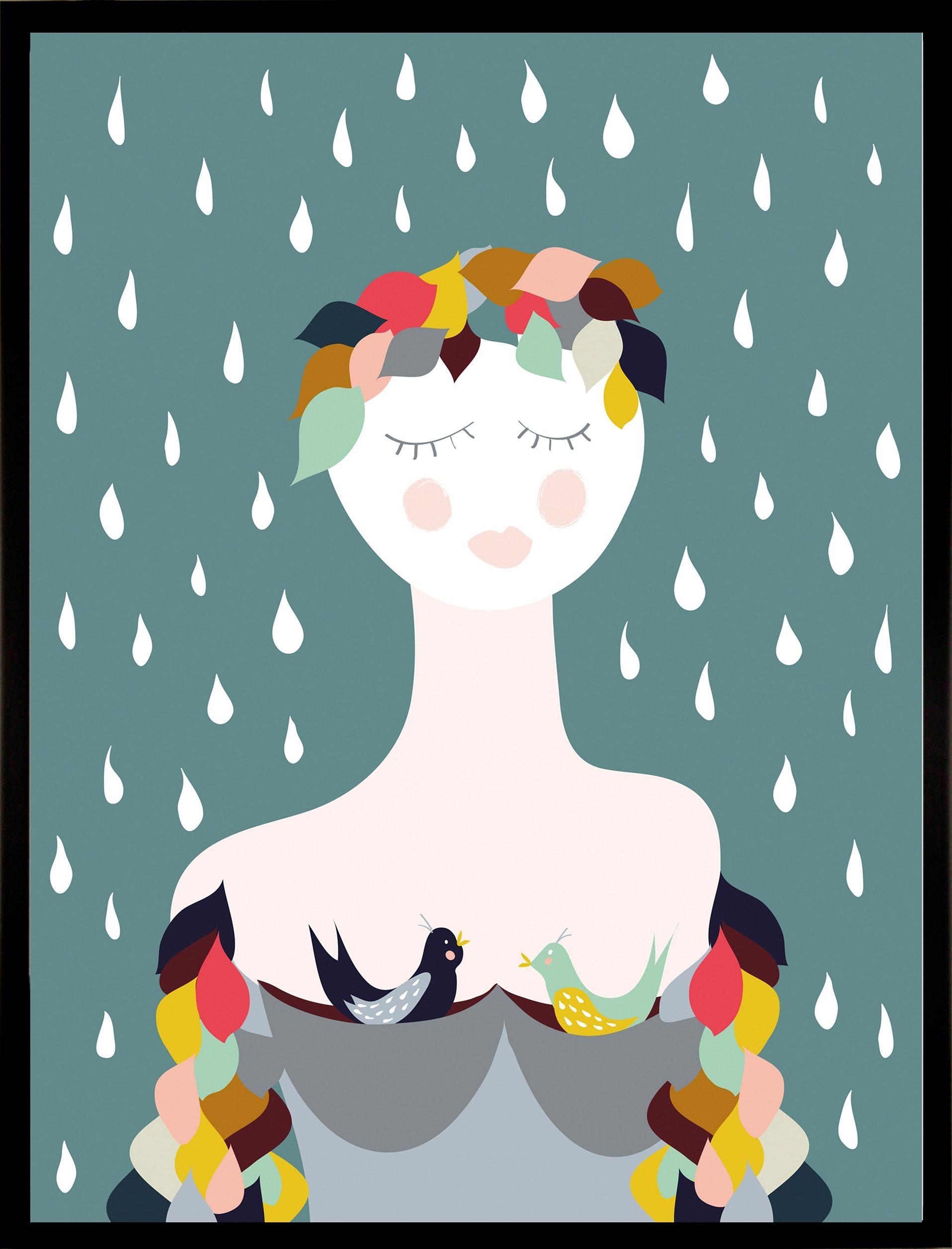 G&C gerahmter Kunstdruck »Rainy Lady«, 33/43 cm
