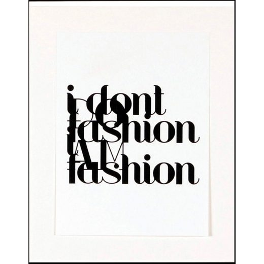 Home affaire gerahmter Kunstdruck »Fashion«, 33/43 cm