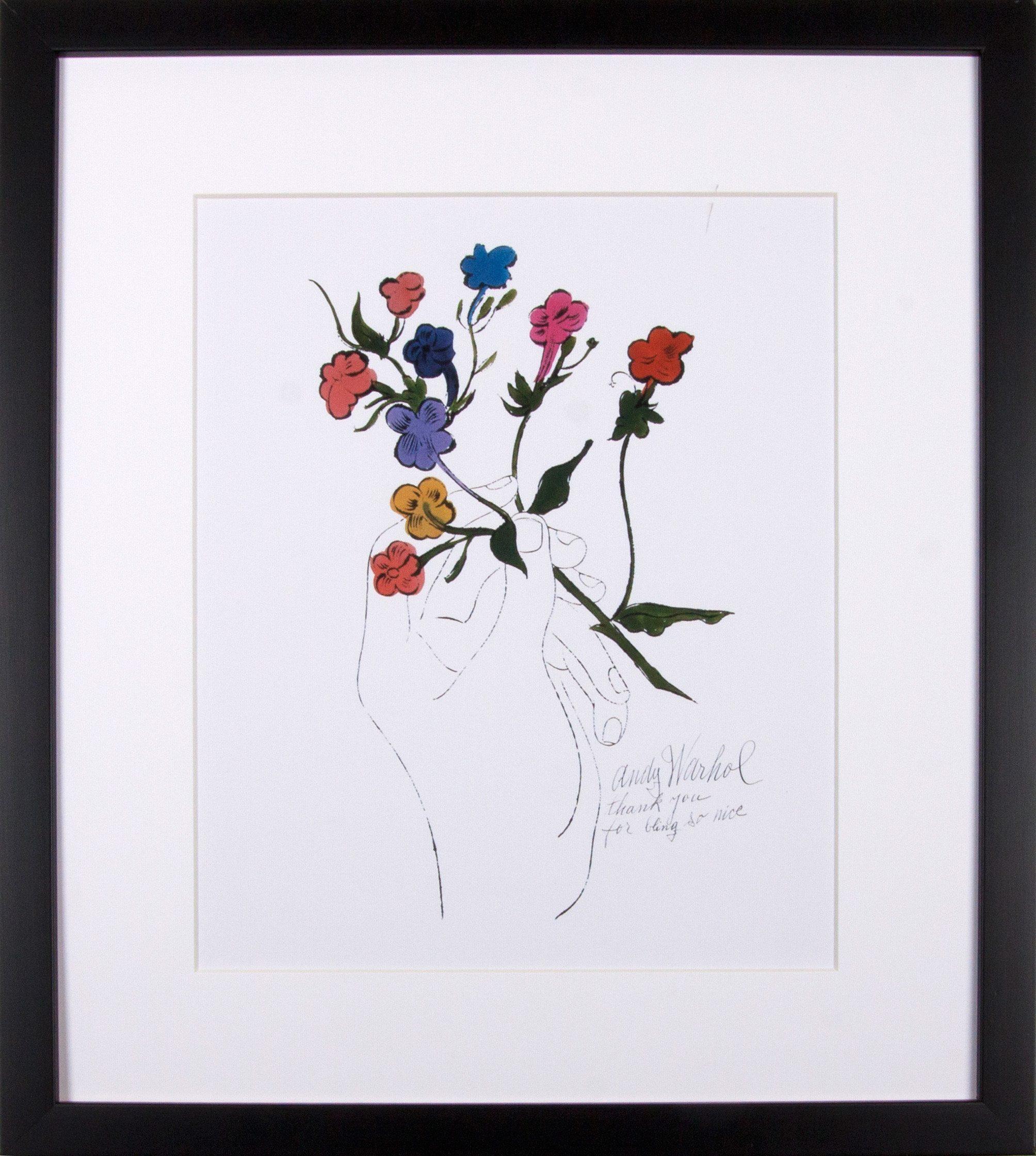 G&C gerahmter Kunstdruck Andy Warhol, »Bunter Blütenstiel«, 33/43