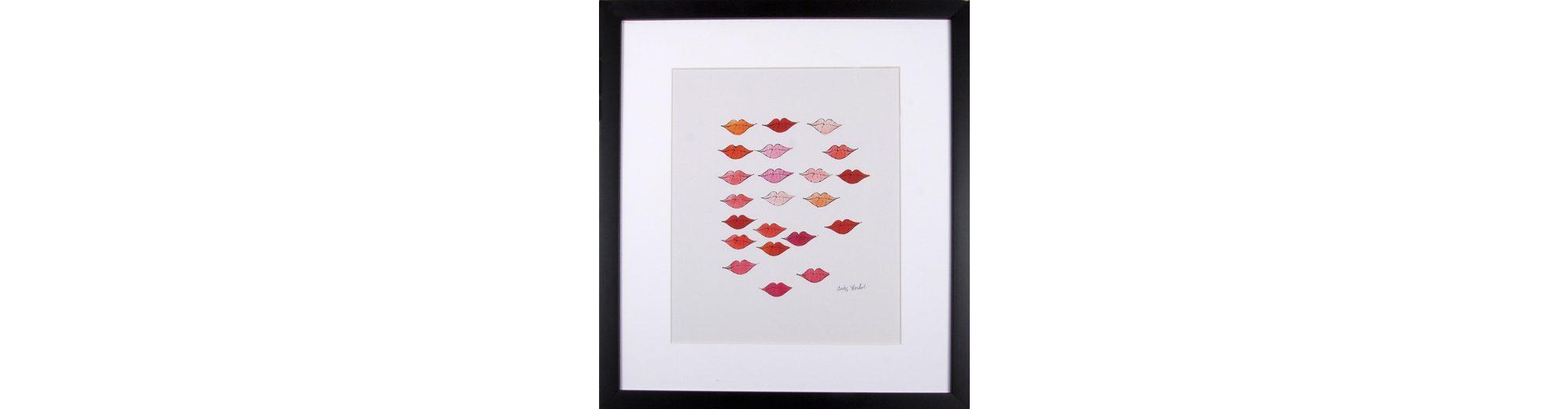G&C gerahmter Kunstdruck Andy Warhol, »Schöne rote Lippen«, 33/43