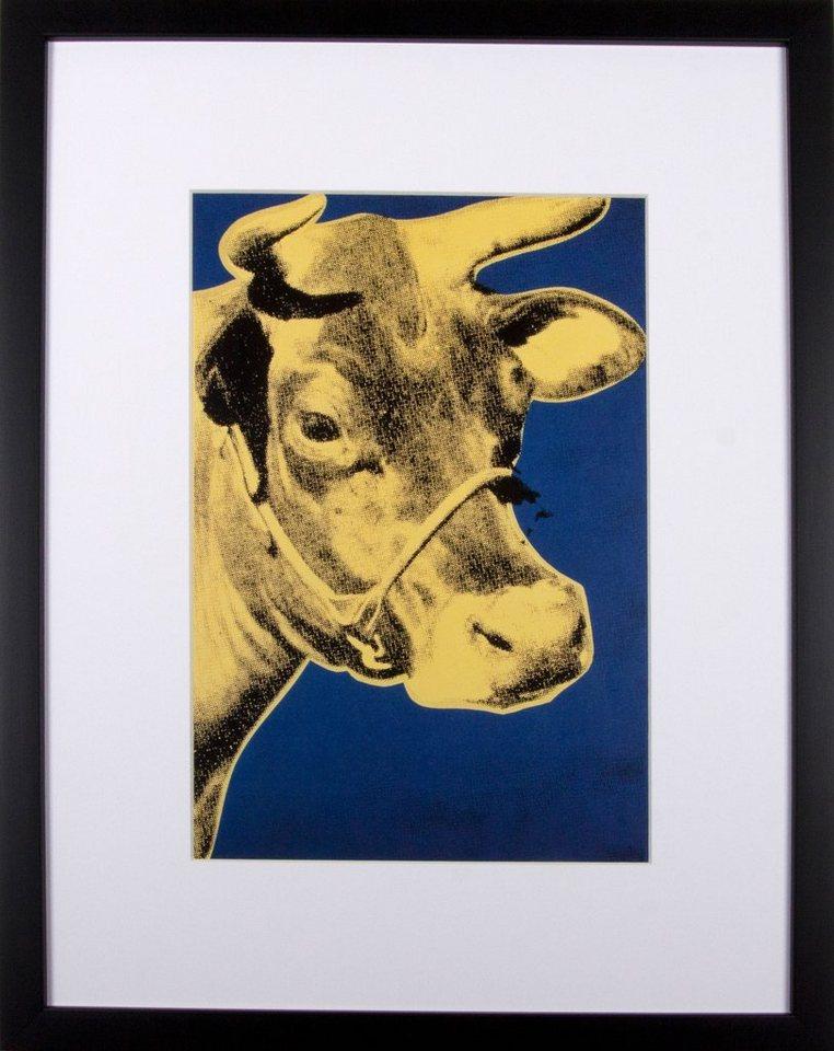 Home affaire gerahmter Kunstdruck »Die goldene Kuh«, 33/43 cm in gelb/weiß